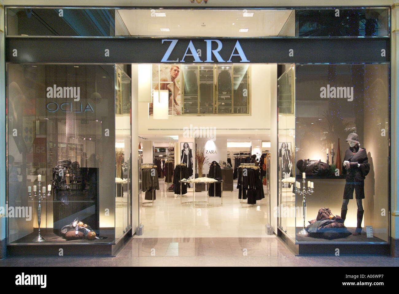 zara shop store trafford centre uk united kingdom england europe gb stock photo royalty free. Black Bedroom Furniture Sets. Home Design Ideas