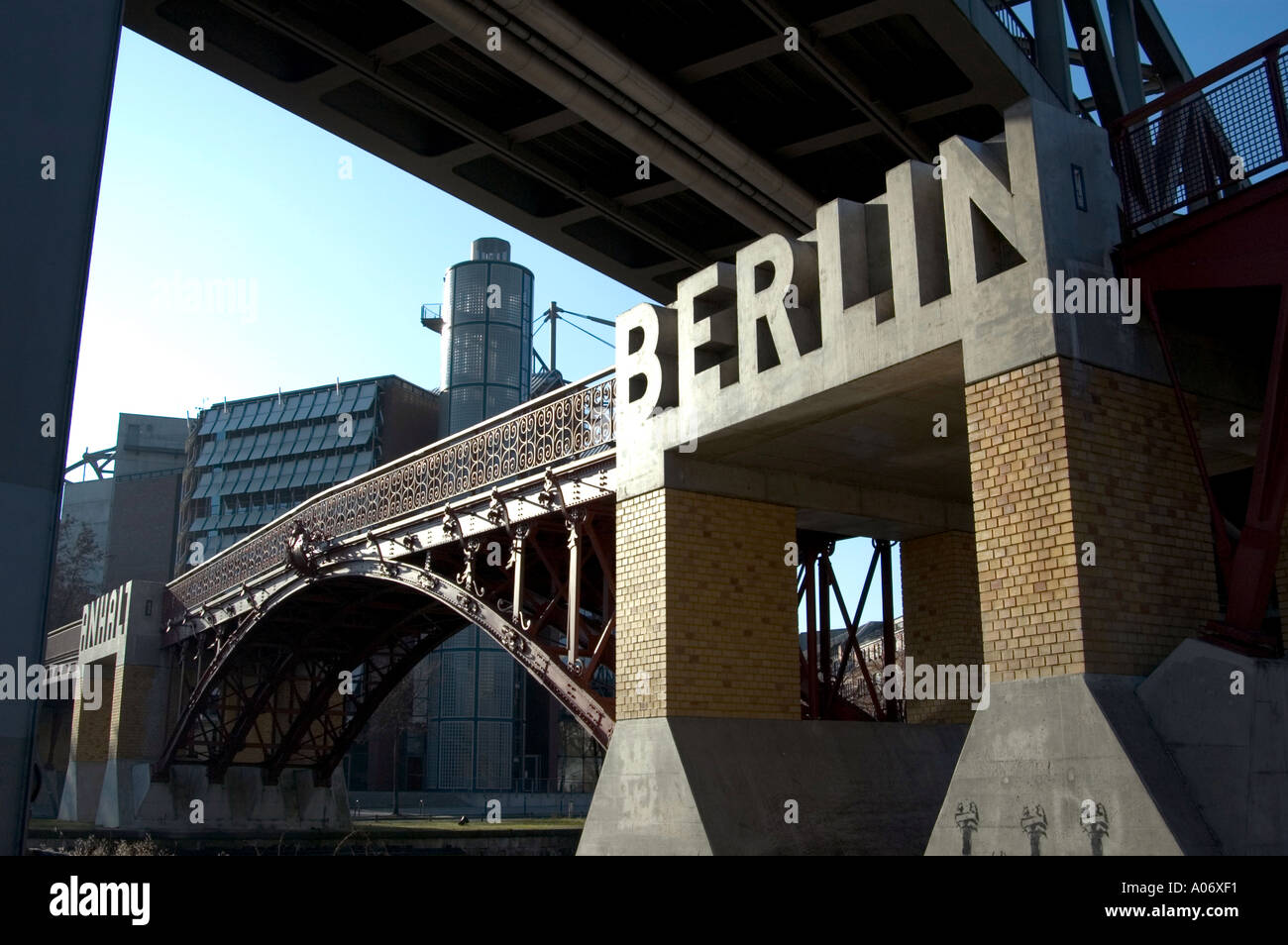 concrete berlin sign on bridge berlin germany europe eu stock photo royalty free image 3232496. Black Bedroom Furniture Sets. Home Design Ideas