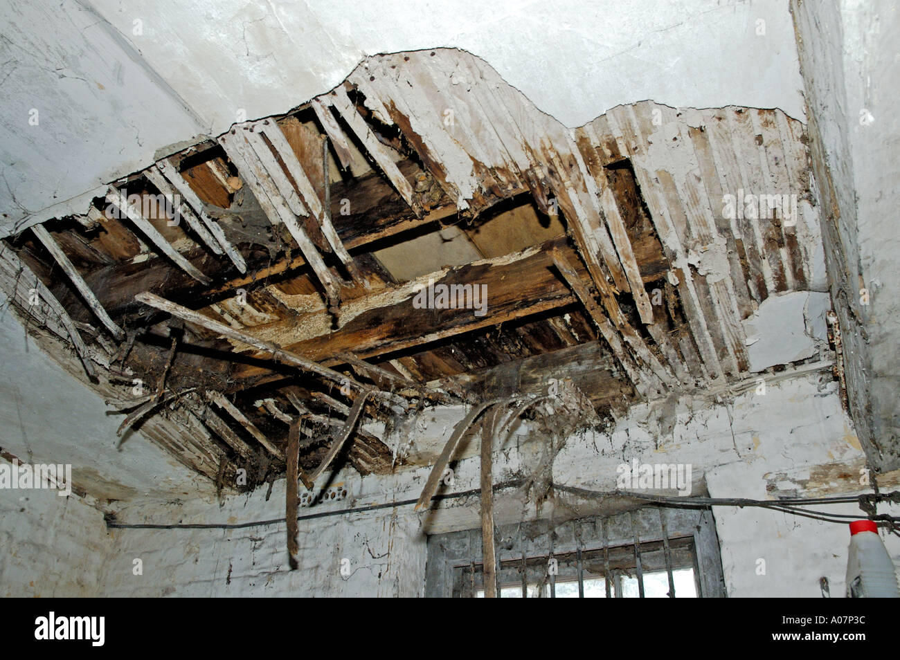 water leakage at plaster wall penetration repair