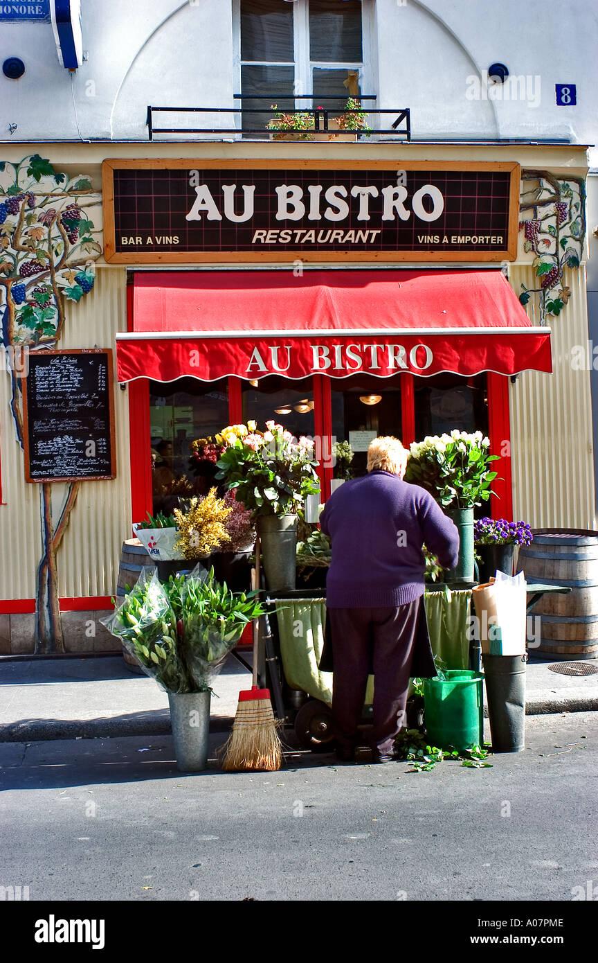 Paris France Woman Quot Street Flower Merchant Quot Outside