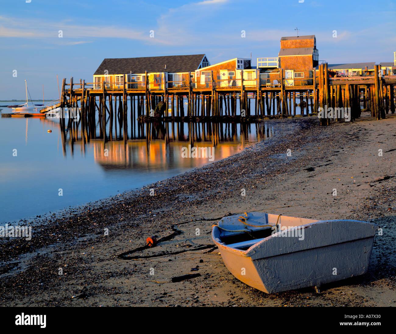 Cape Cod National Sea Shore: Cape Cod National Seashore, MA: Dinghy Stranded At Low