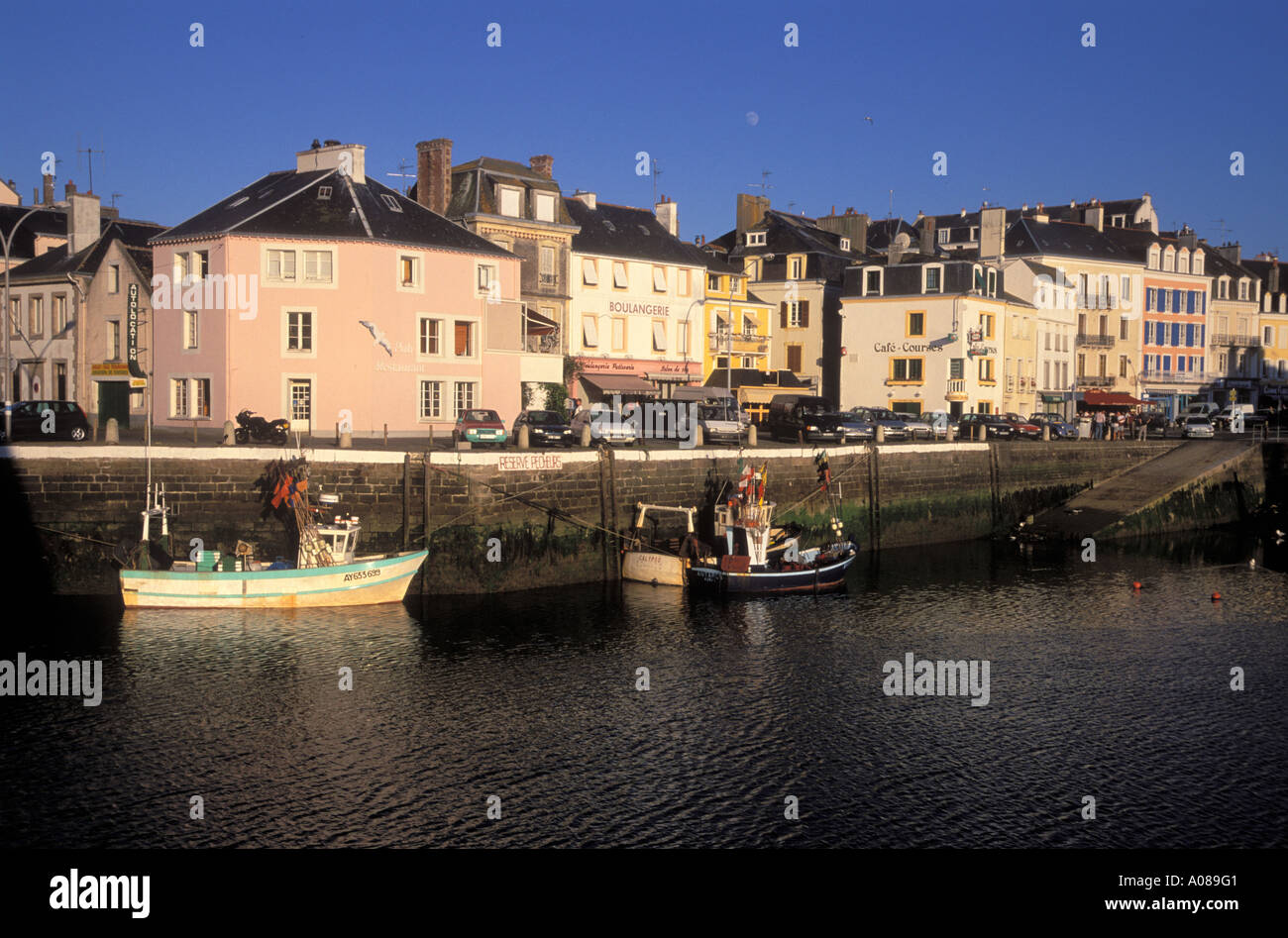 harbour le palais belle ile en mer france stock photo. Black Bedroom Furniture Sets. Home Design Ideas