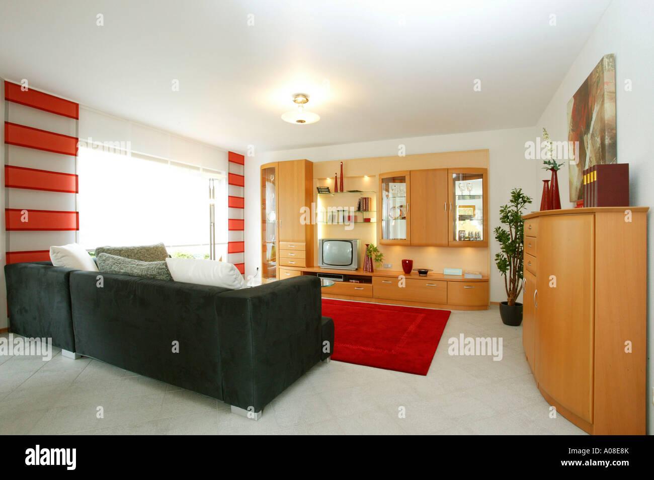 Einfamilienhaus innen Esszimmer, single family home inside dining ...