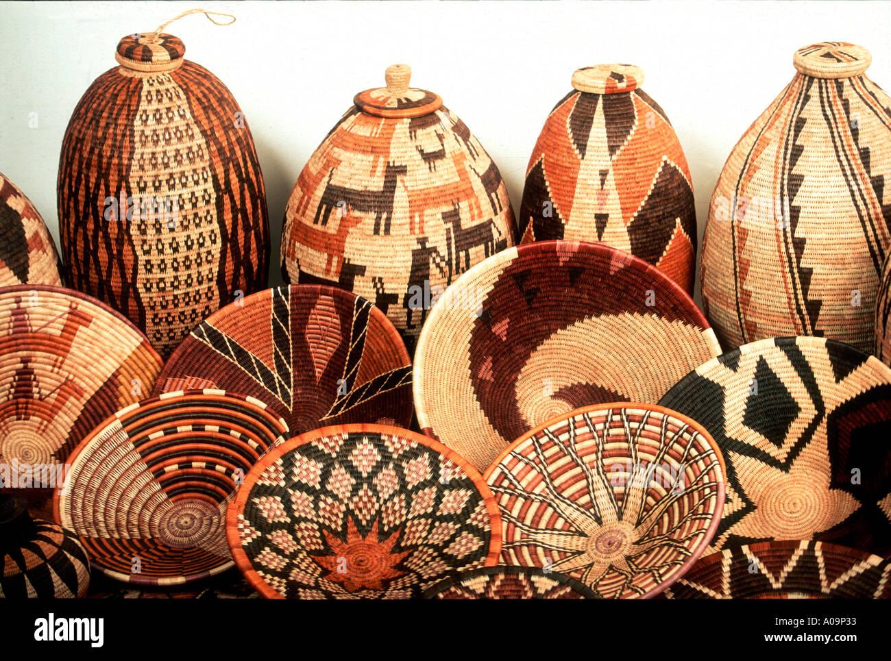 Basket Weaving Botswana : Collection of botswana baskets stock photo royalty free