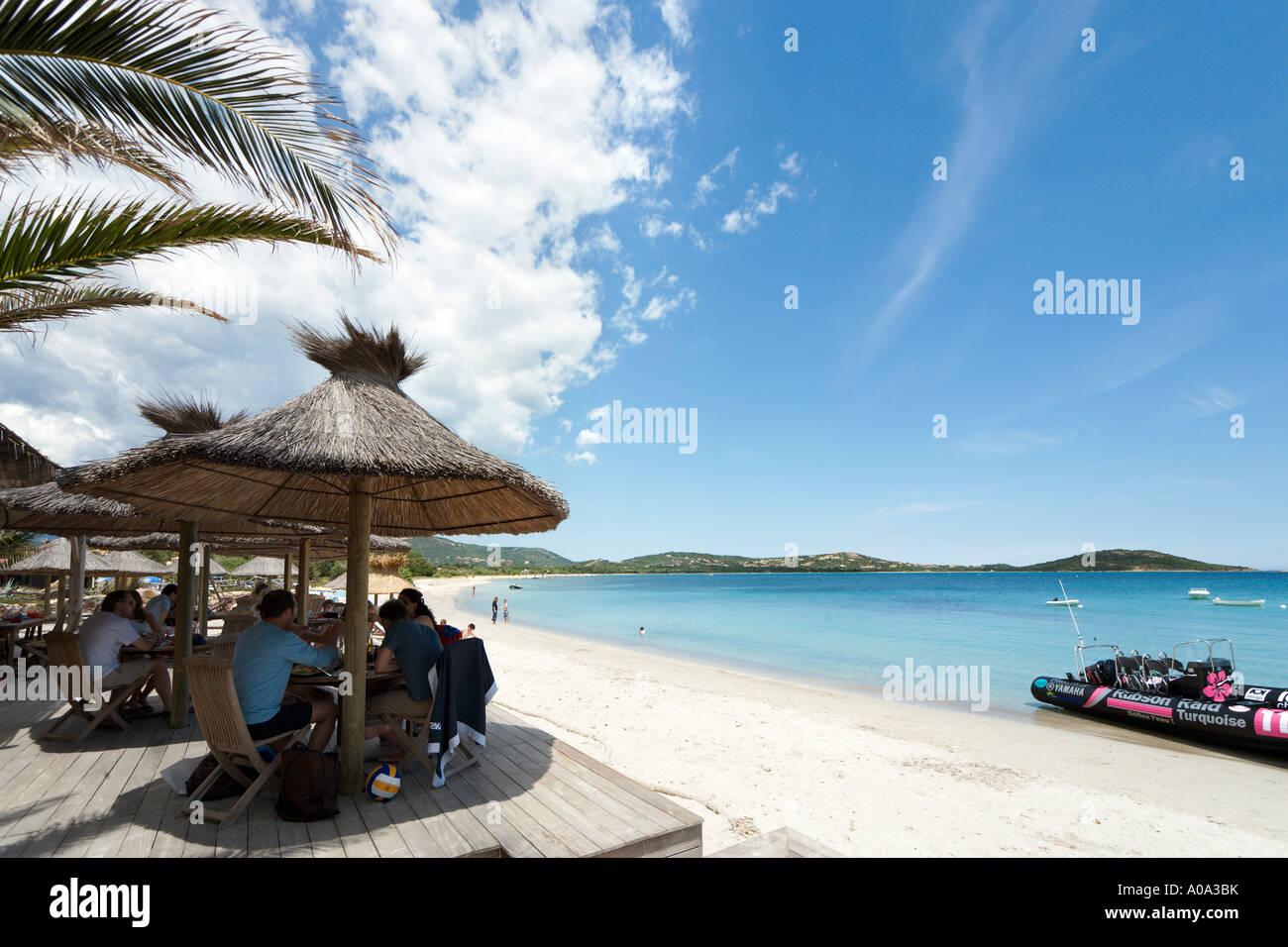 Lunch at a beach bar on San Ciprianu Beach, near Porto Vecchio ...