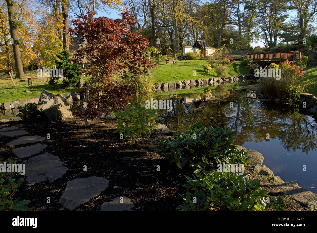 Japanese Garden Edinburgh Kyoto Friendship Garden Lauriston Castle Cramond  City Of Edinburgh