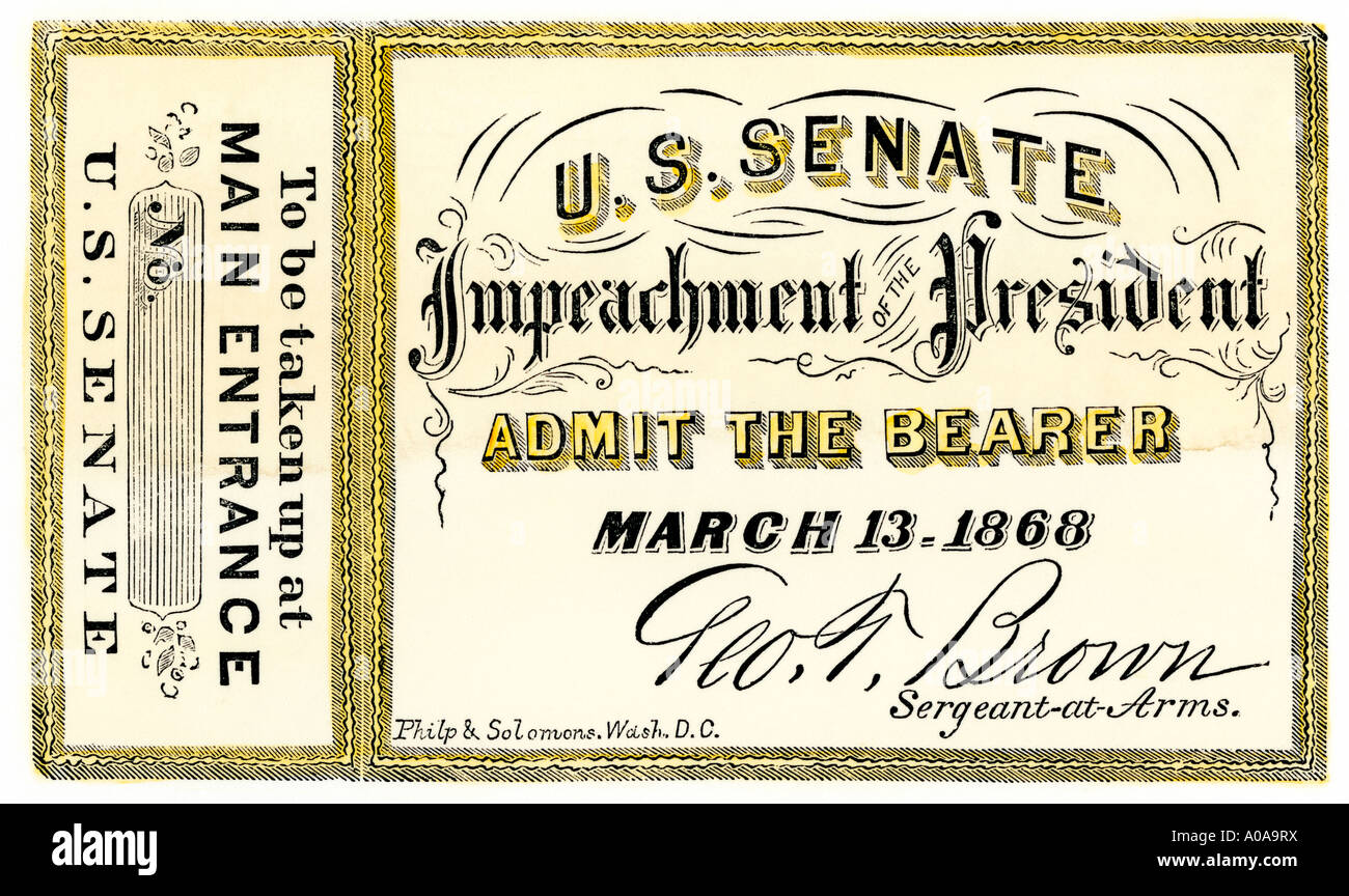 the impeachment of the president of the united states of america Of the other four, two were presidents, one was a cabinet secretary, and one was a us senator of the 19 impeached officials, eight were convicted one, former judge alcee hastings, was elected as a member of the united states house of representatives after being removed from office the 1797 impeachment of.