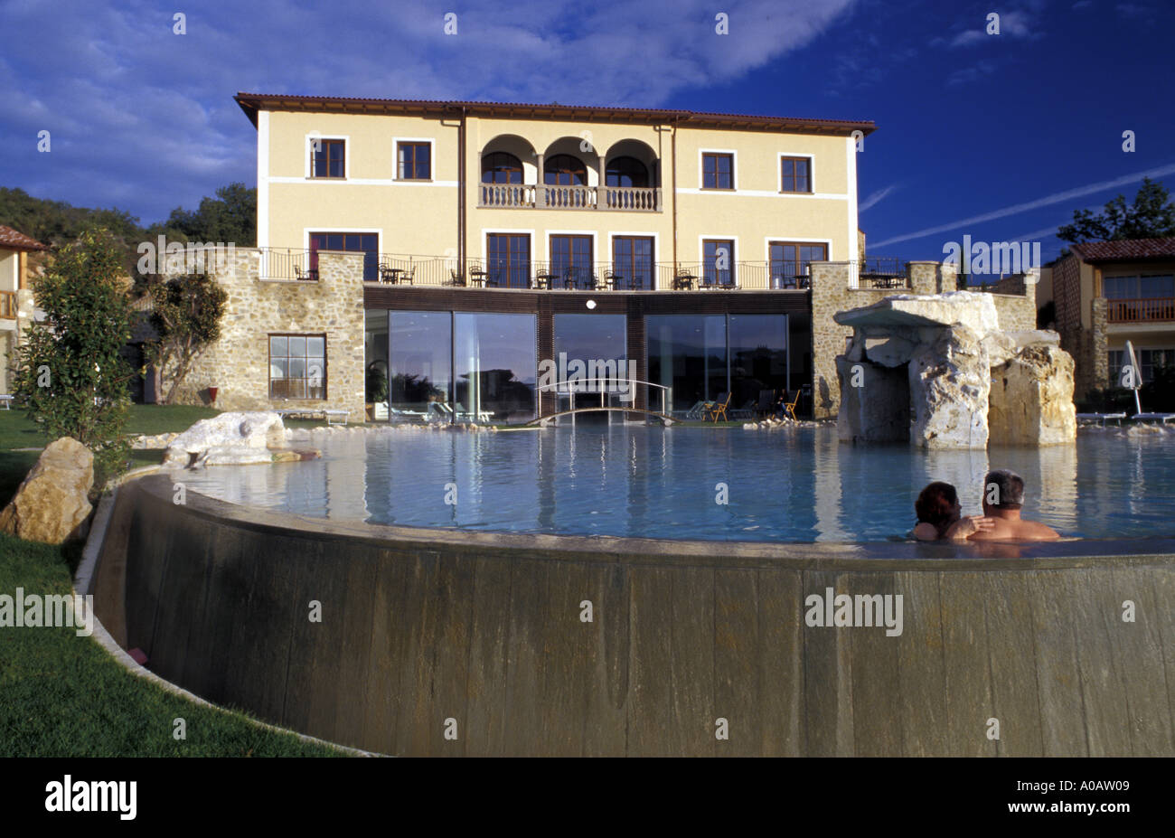 Hotel Adler Thermae Bagno Vignoni Tuscany Italy Stock Photo, Royalty ...