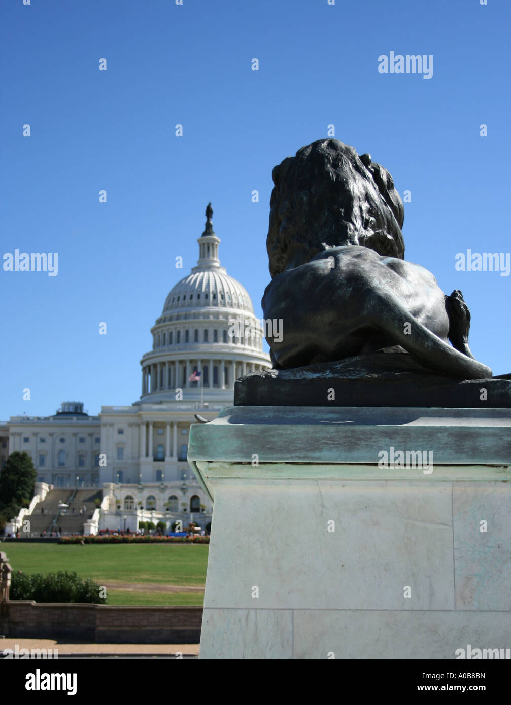 rear-view-of-lion-statue-and-dome-of-us-