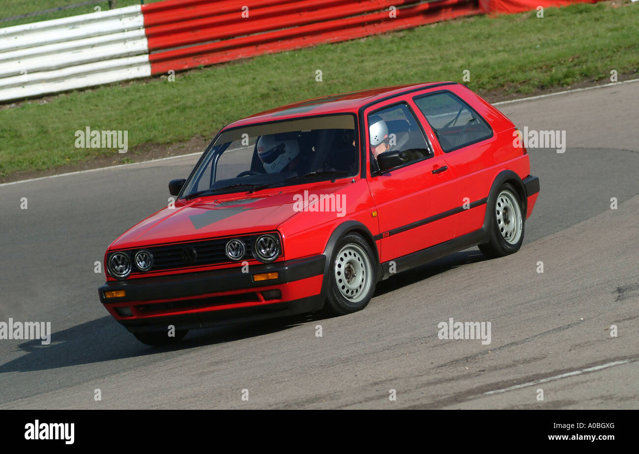 Red MK2 Volkswagen Golf GTI 8V car at a track day Stock Photo ...