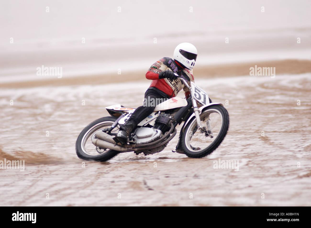 Speedway Motorcycle Racing Bikes: Sand Racer On Honda Speedway Bike Sand Racing On A Beach