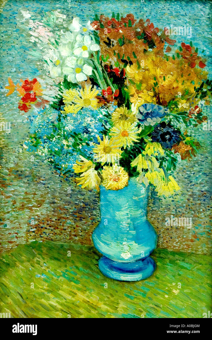 Gogh flowers stock photos gogh flowers stock images alamy flowers in a blue vase vincent van gogh 1853 1890 dutch netherlands stock image reviewsmspy
