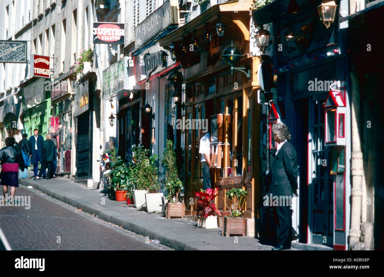 Restaurant Rue Mouffetard Paris Stock Photo, Royalty Free Image ...