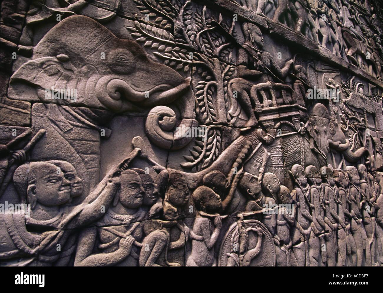 Cambodia siem reap angkor wat thom bayon temple
