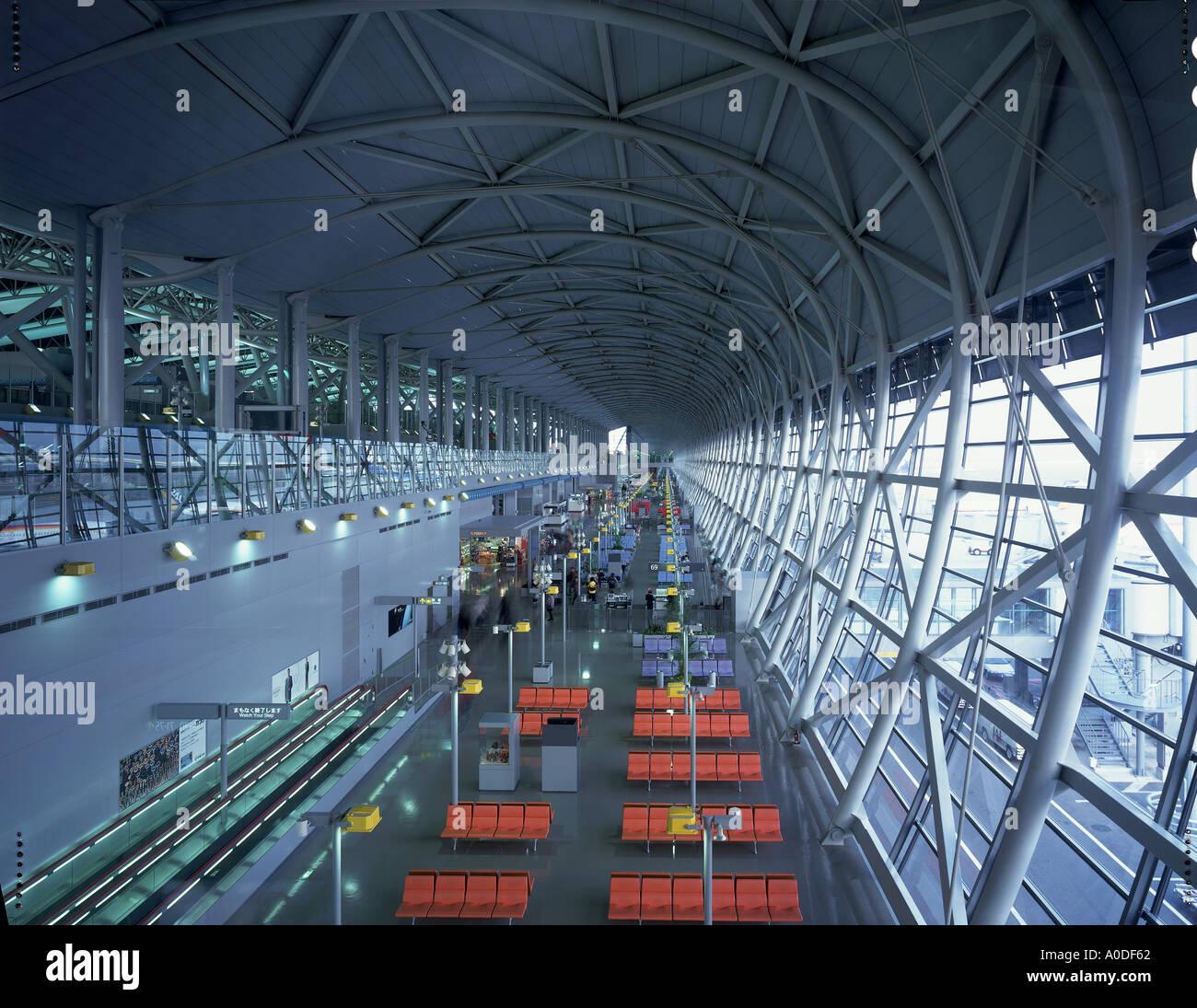 Aeroporto Osaka Renzo Piano : Kansai airport osaka japan interior architect renzo