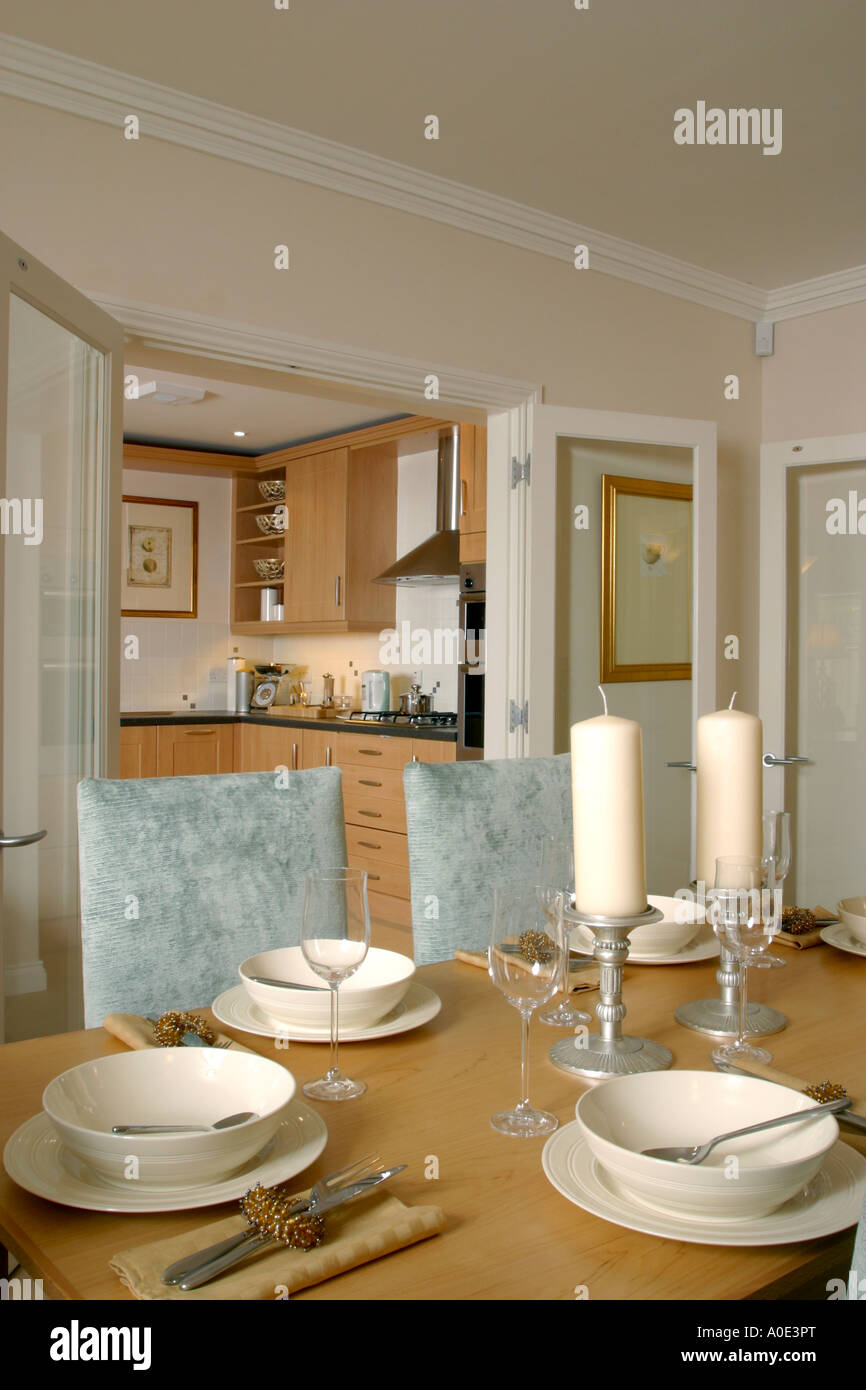 Show home interior dining room Stock Photo Royalty Free Image