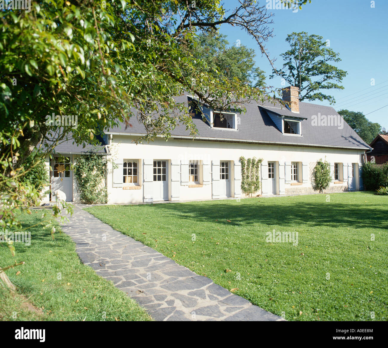 French country single story home pictures