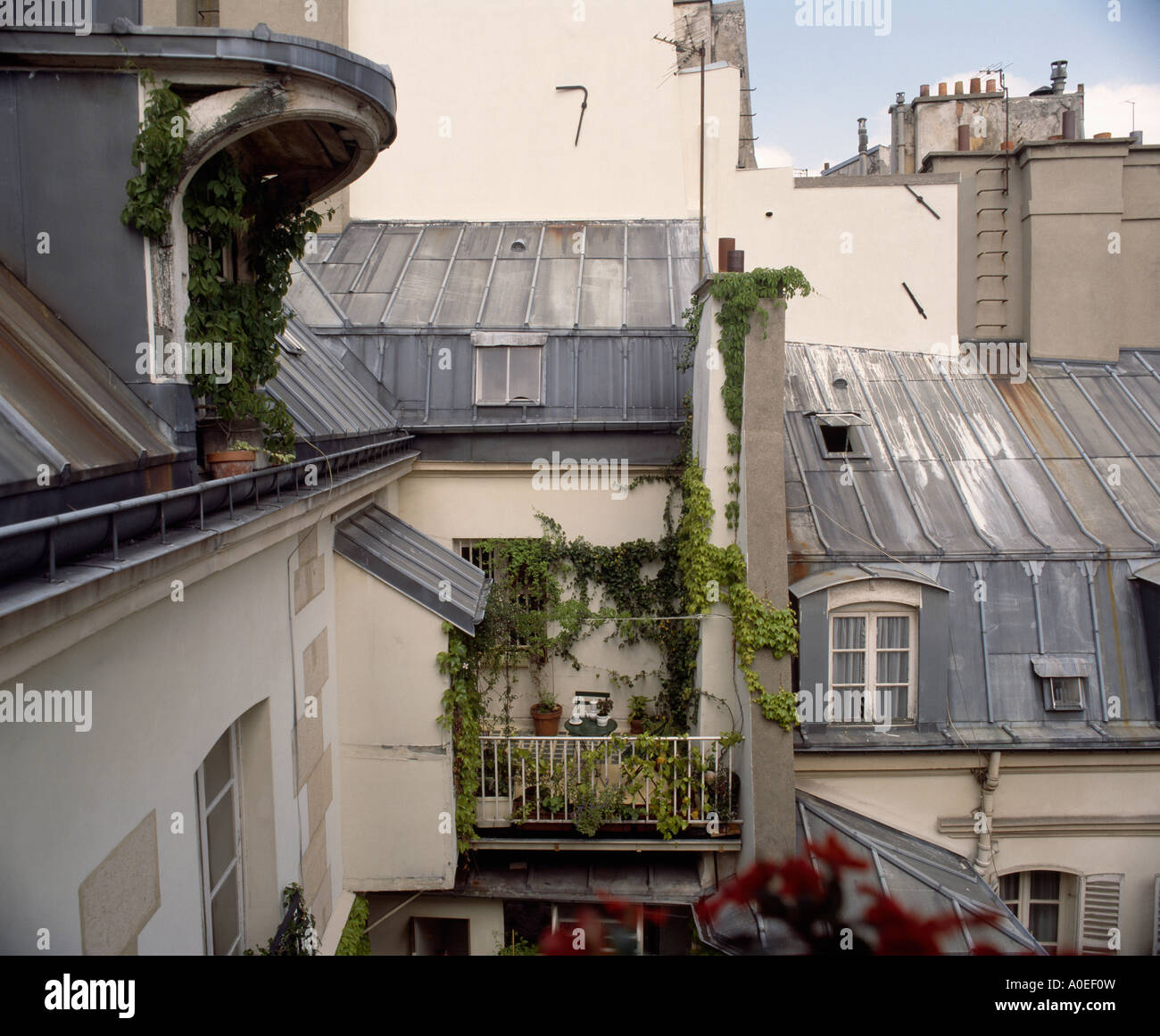 Balcony and roof of traditional apartment house in paris for Balcony of house