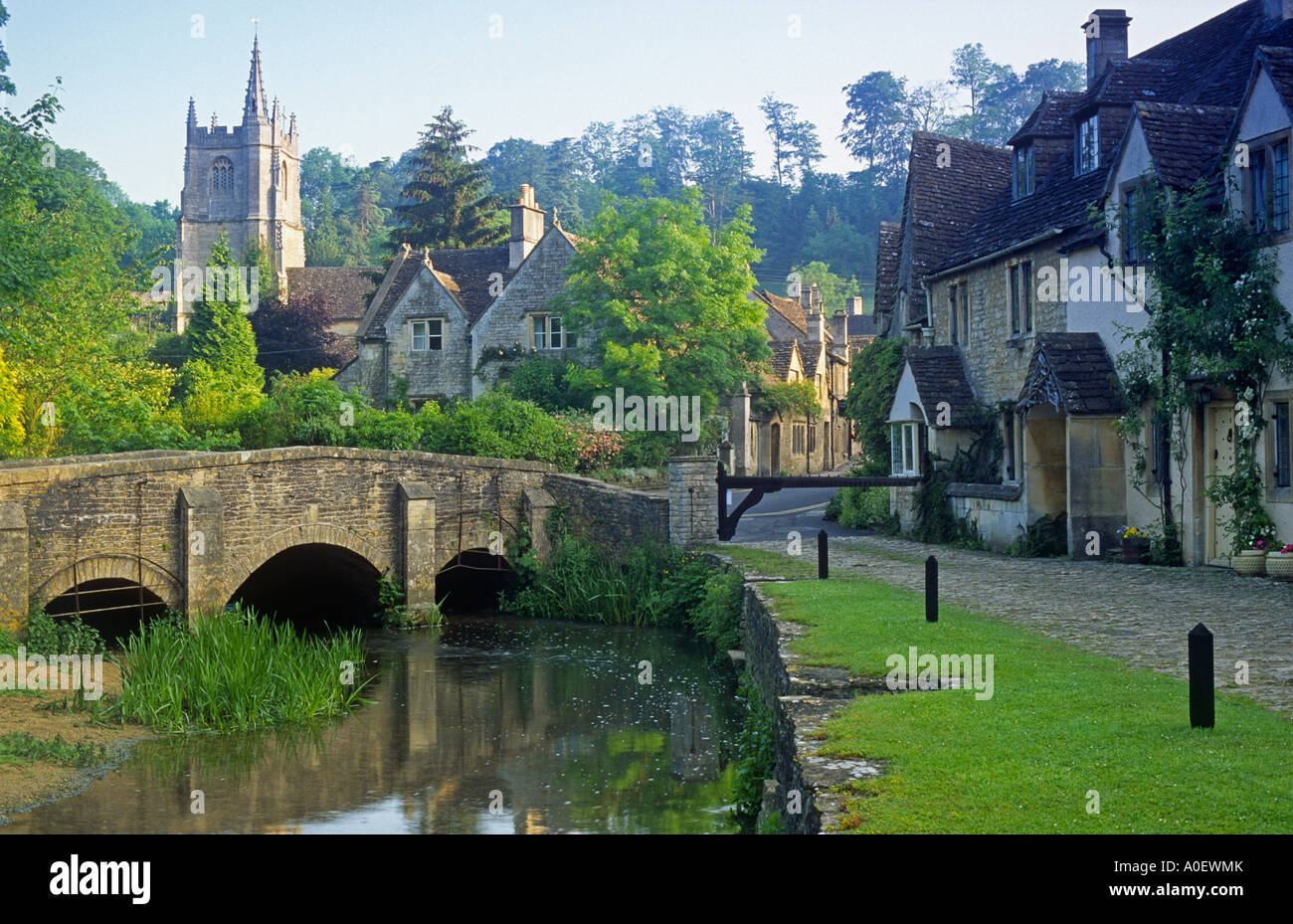Castle Combe The Cotswolds Wiltshire England Stock Photo Royalty Free Image 9974850 Alamy