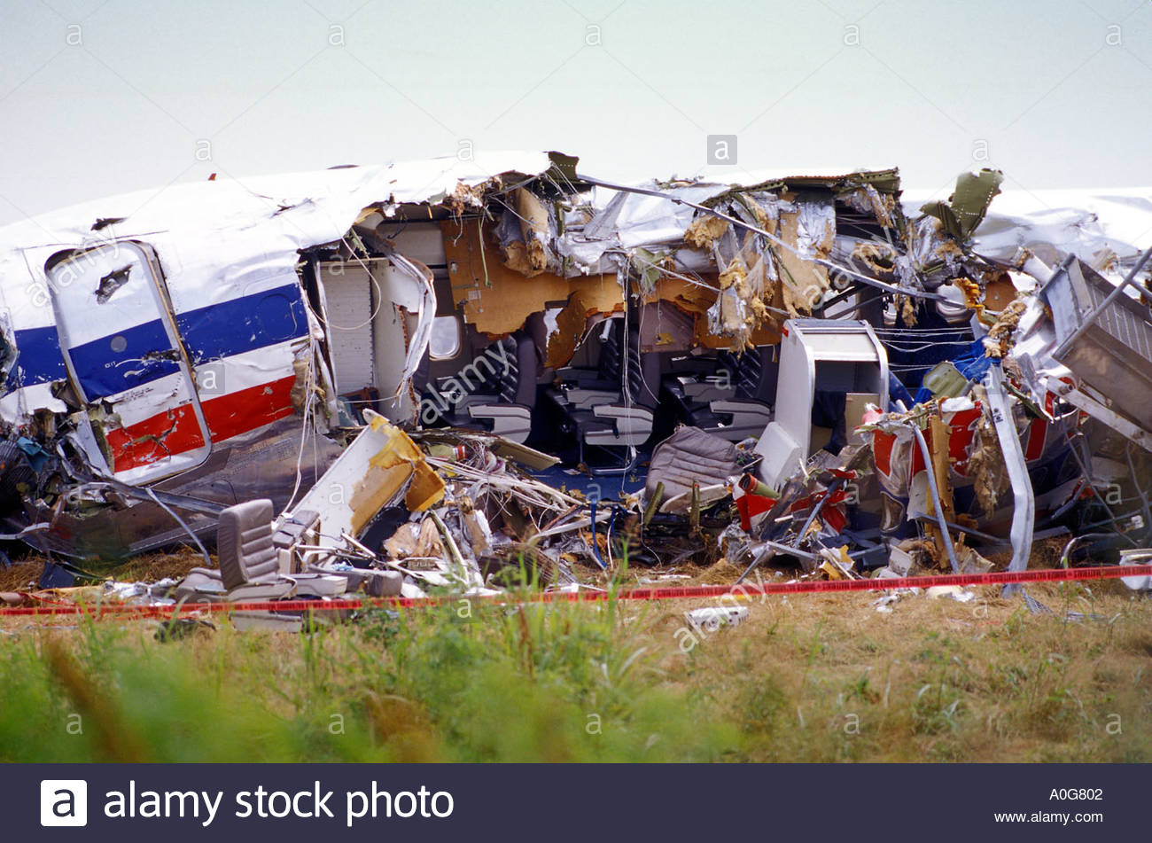 wreckage of the american airlines plane crash at the