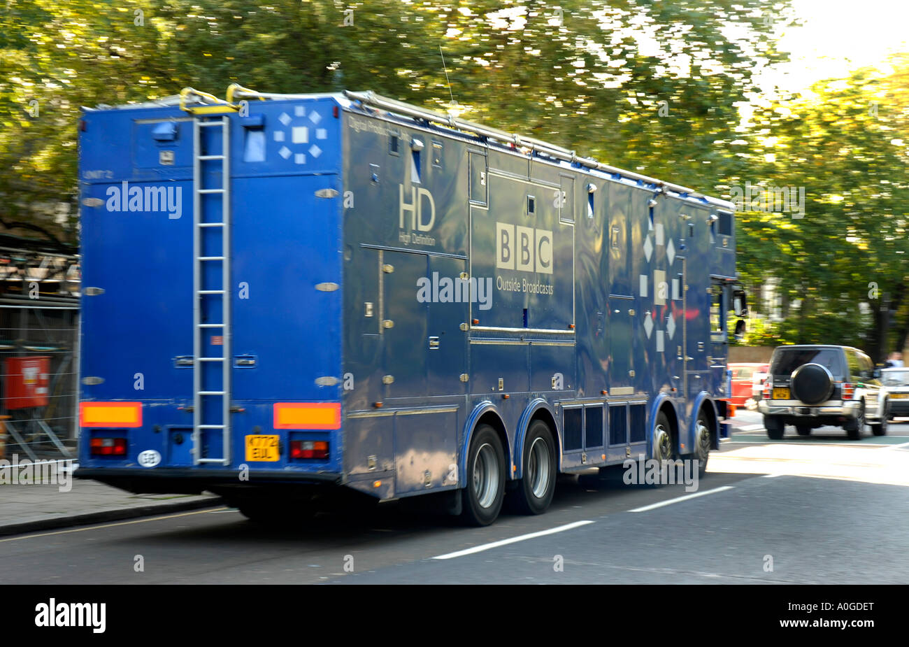 a bbc tv high definition outside broadcast vehicle in adelaide road stock photo royalty free. Black Bedroom Furniture Sets. Home Design Ideas