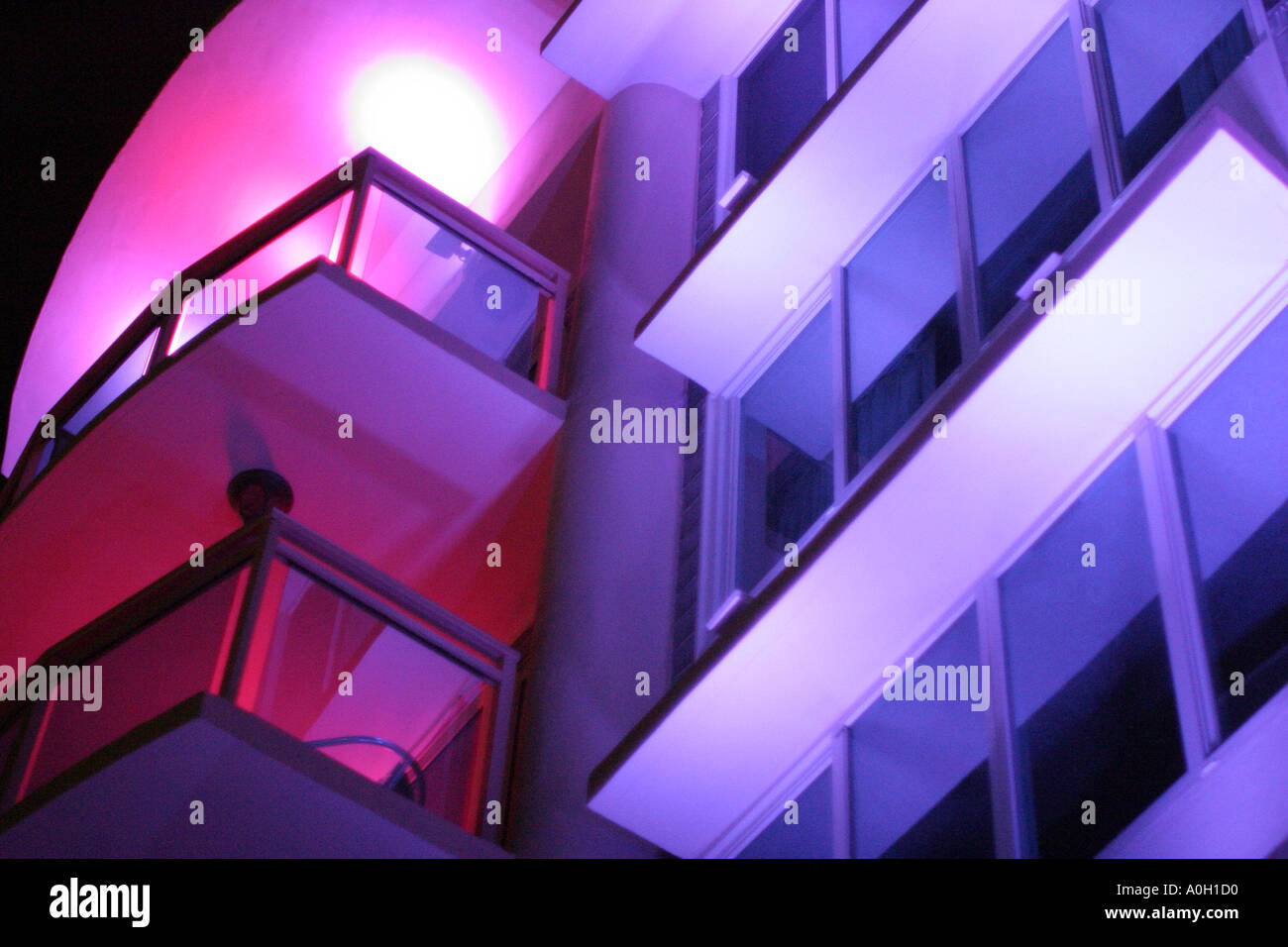 Miami beach florida ocean drive teaser 39 s hotel balcony for Plural of balcony