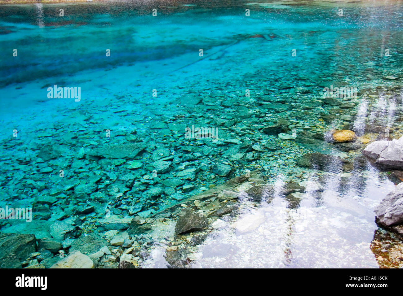 Crystal Clear Sapphire Blue Water Of The Five Color Pond