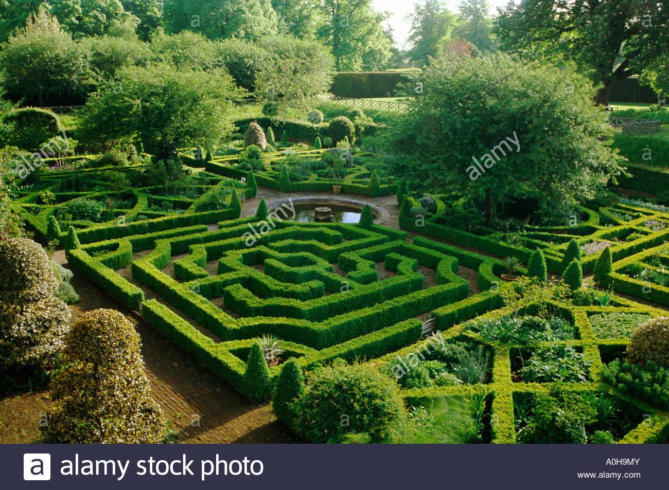 Hatfield House Hertfordshire Sunken Knot Garden With