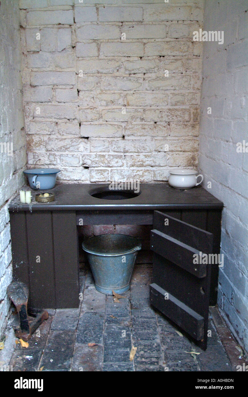 Toilet Lavatory Birmingham UK England Back To Museum Bucket Soil History Historic Old Time Fashioned Heritage Restored Victorian