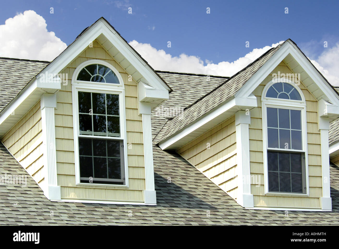 Attic windows looking outwards from the roof of a house stock photo royalty free image - Houses attic families children ...