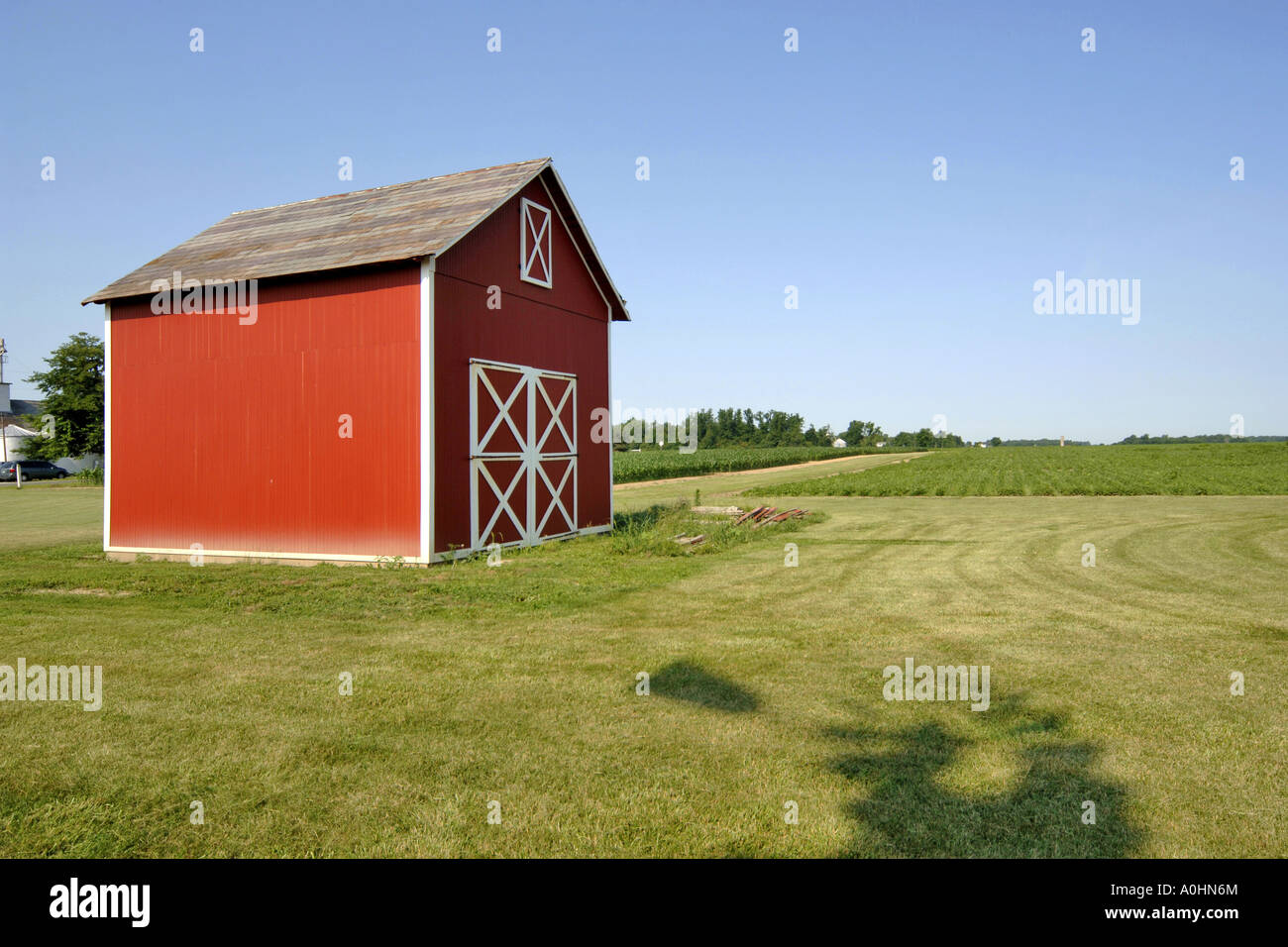 Traditional Mid West American Farm Building In Rural