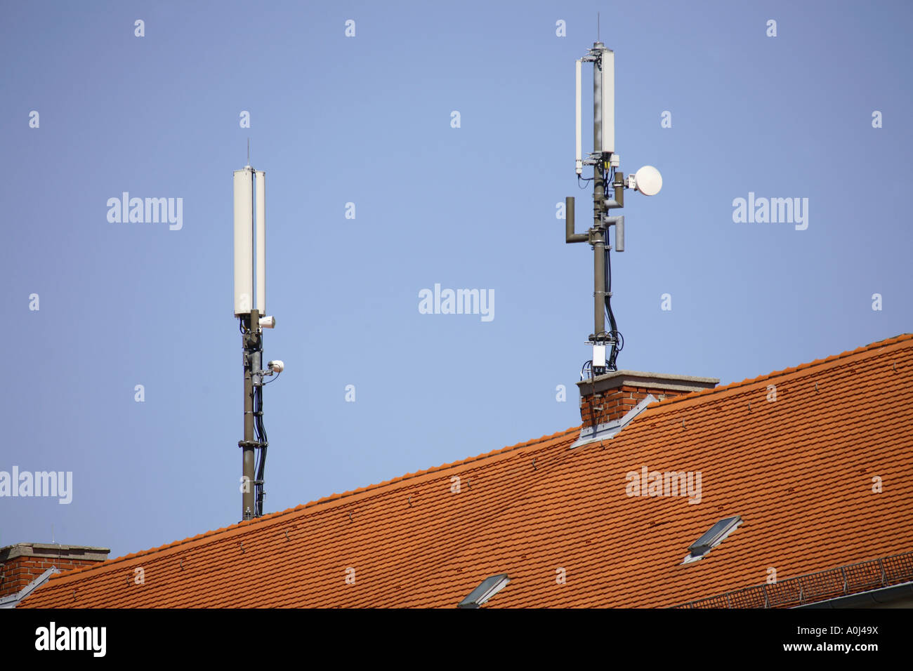 Charming Mobile Phone Antennas On Roof