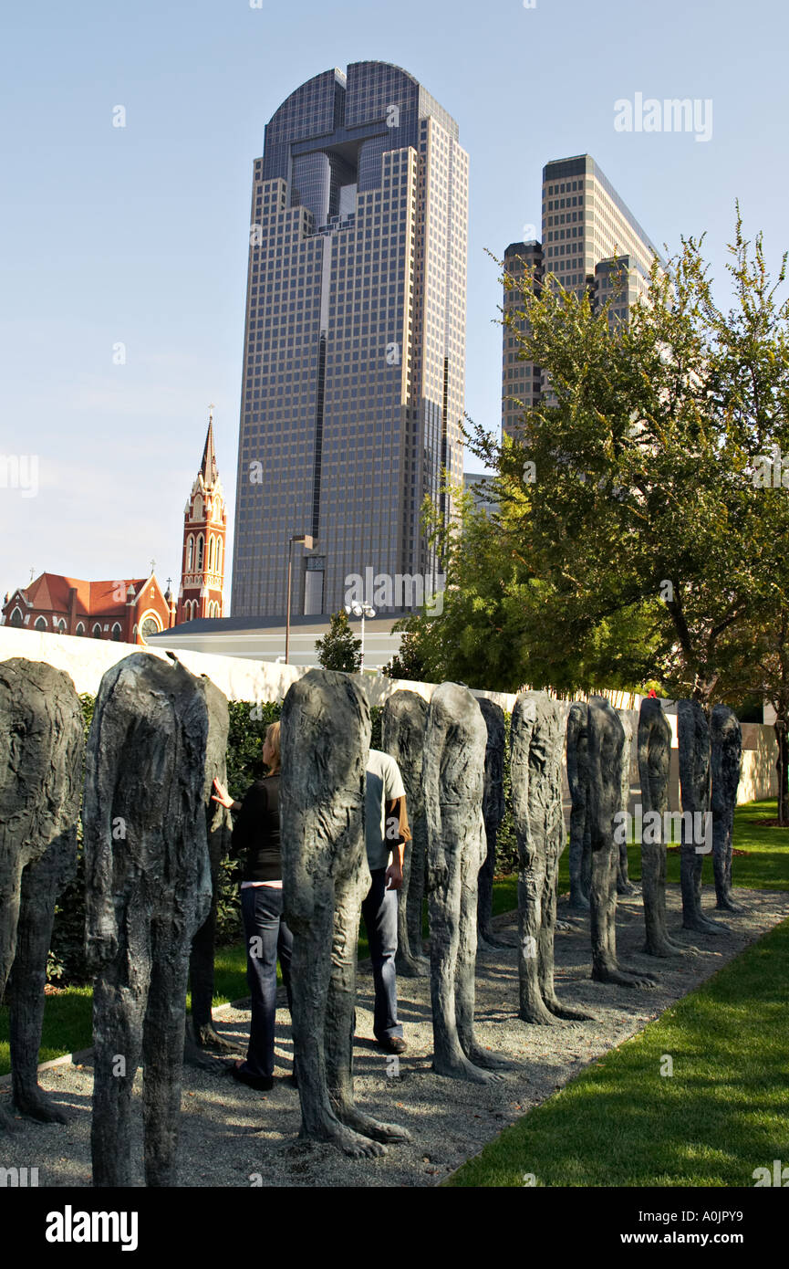 TEXAS Dallas Nasher Sculpture Center Museum Outdoor Sculpture Garden Bronze  Crowd Thirty Six Headless