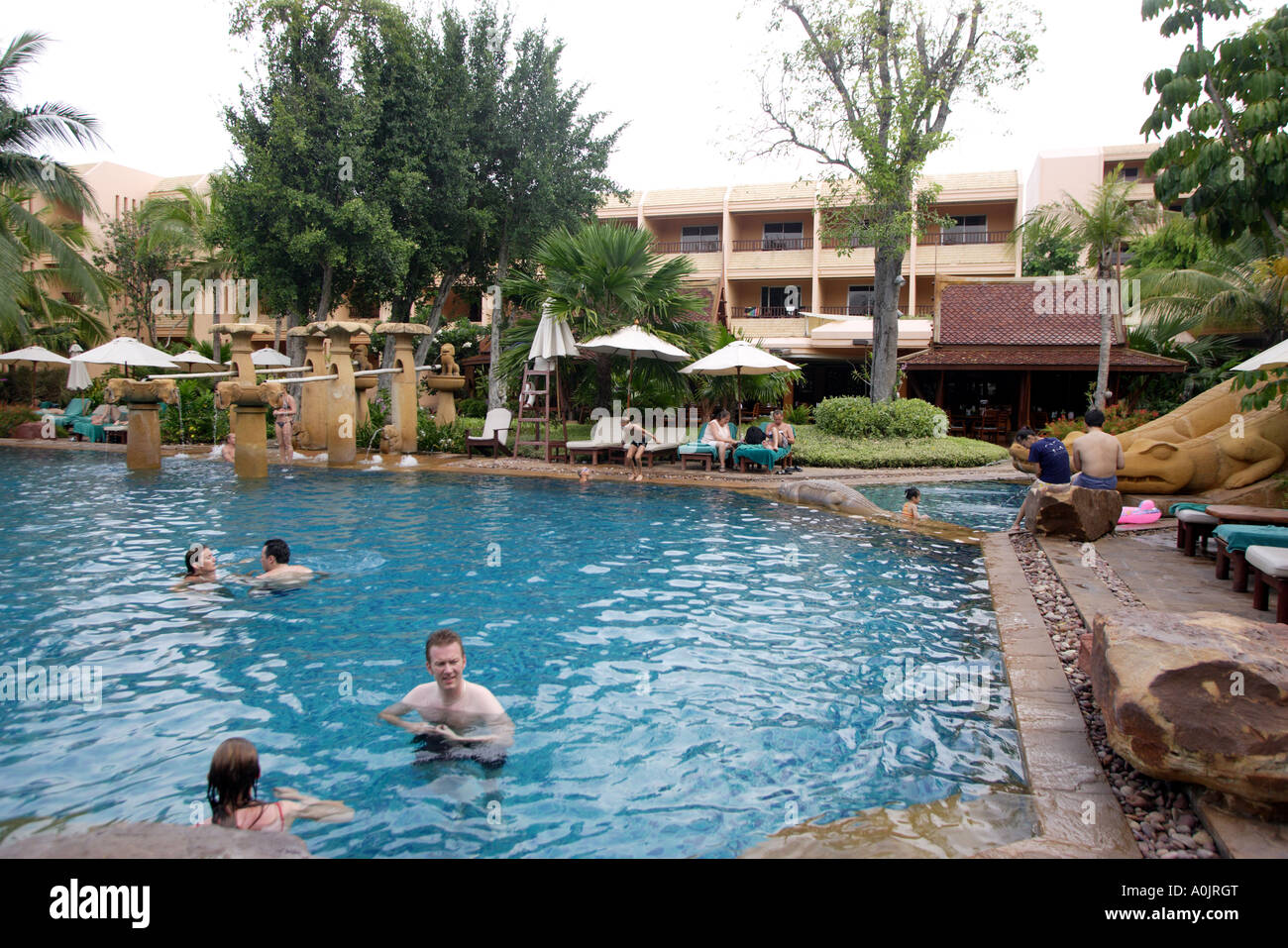Swimming pool at the Royal Garden Resort now the Marriot in Hua