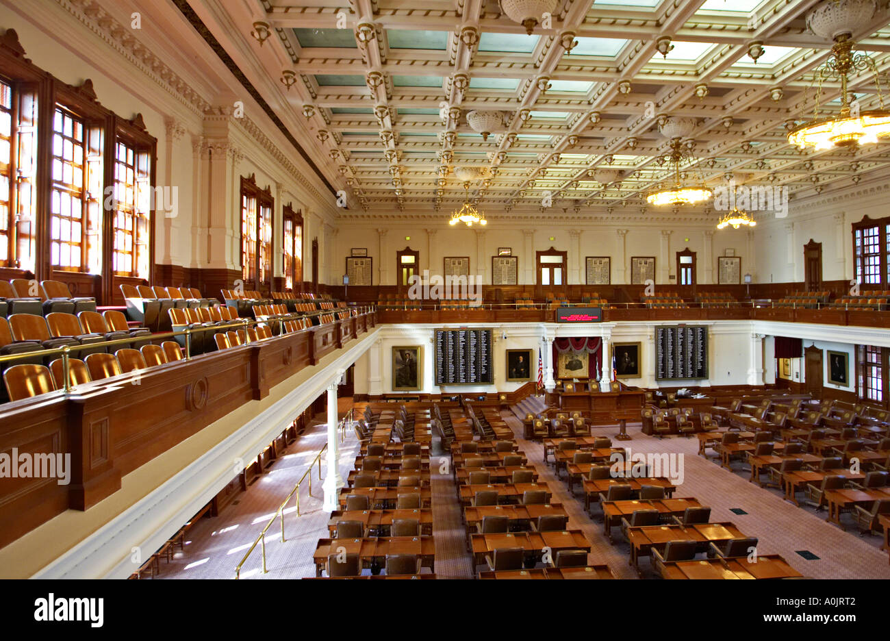Texas Austin House Of Representatives State Capitol Building Interior Stock Photo Royalty Free