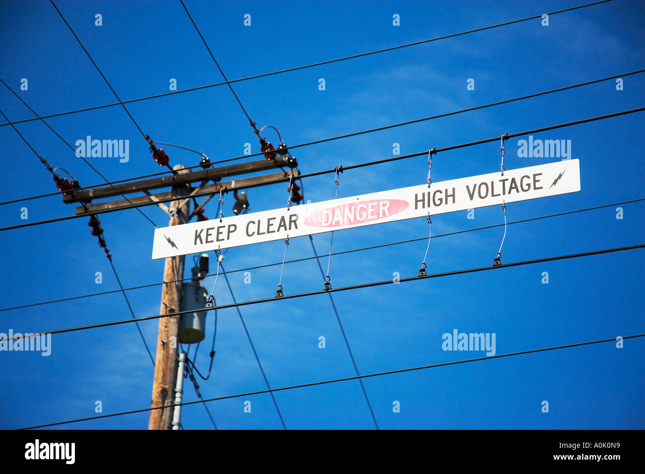 ELECTRICAL WIRES OVERHEAD DANGER