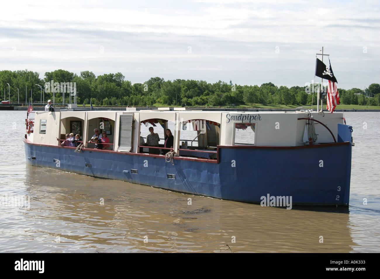 Ohio lucas county maumee - Stock Photo Toledo Ohio Maumee River Sandpiper Boat Tour Boat