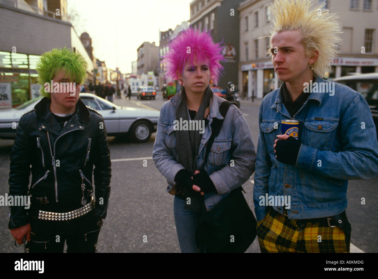 Punk Rockers On The Kings Road Chelsea London England