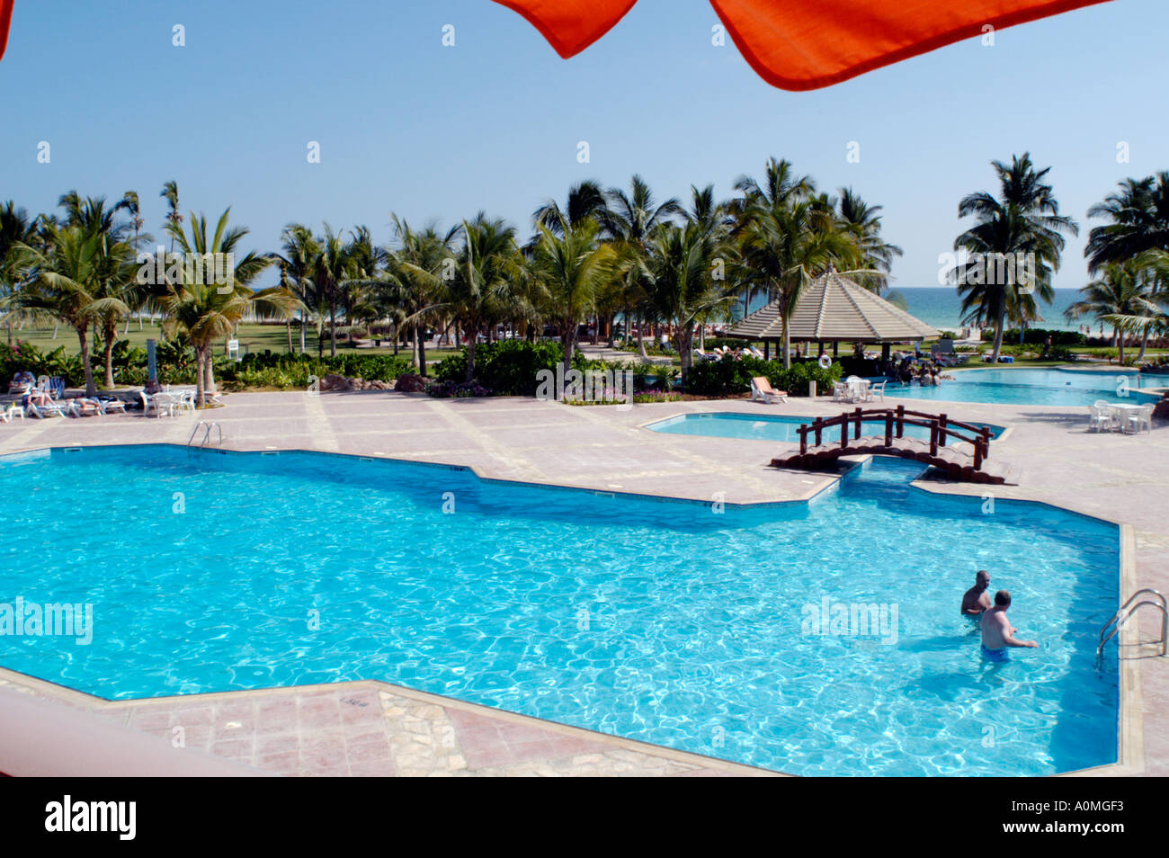 Oman Salalah Crowne Plaza Hotel Swimming Pool Grounds Beach And Stock Photo Royalty Free