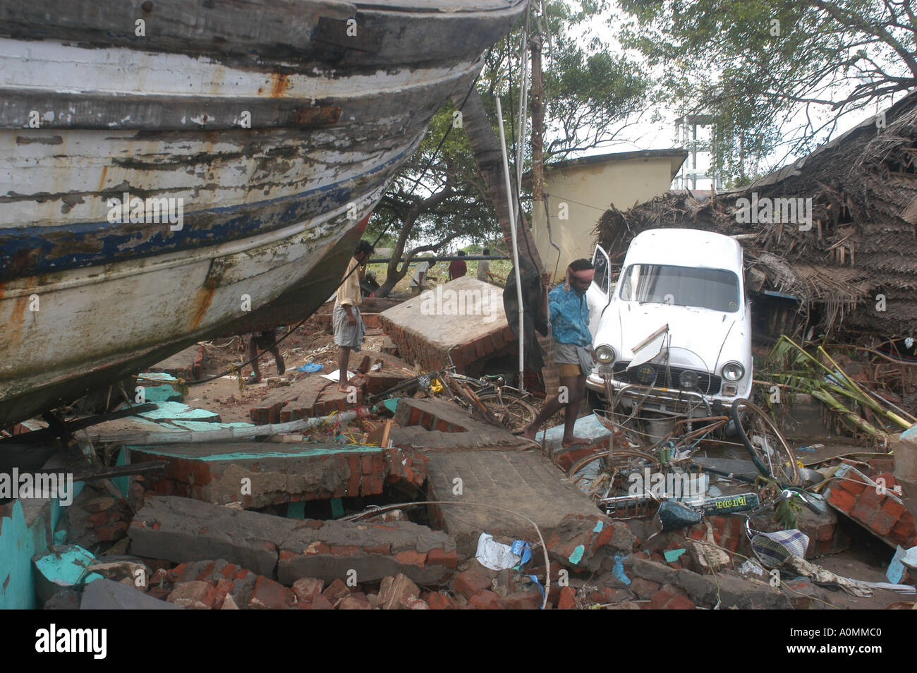 MPD92681 Damage by natural disaster Tsunami earthquake on ...
