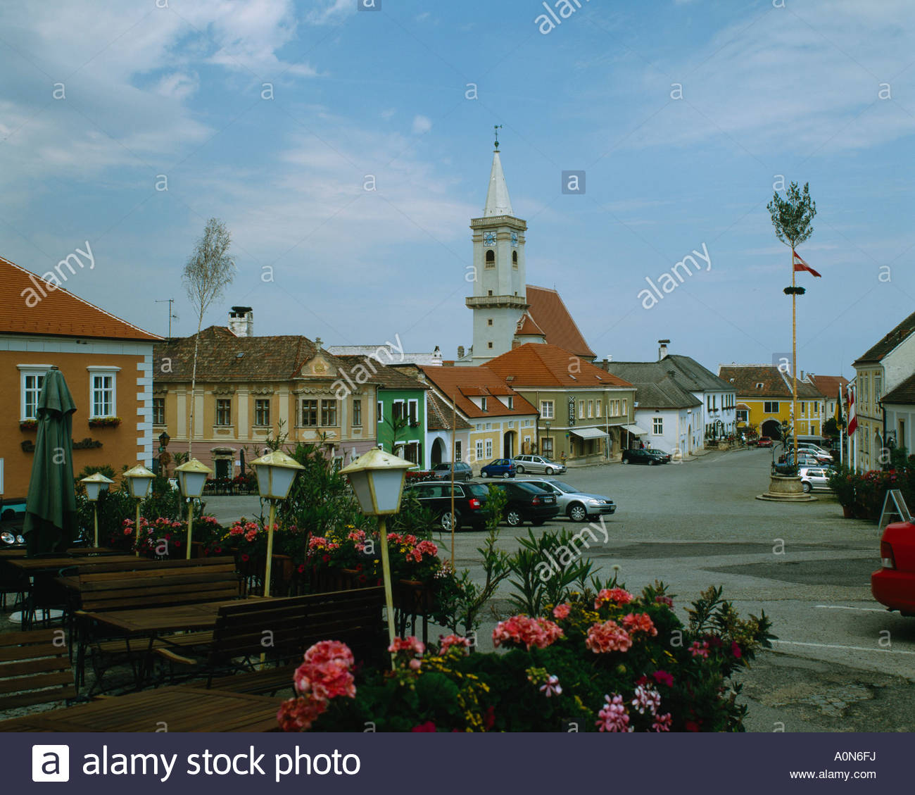 Rust neusiedlersee  Rust City View Neusiedler See Lake Rust Austria Stock Photo ...