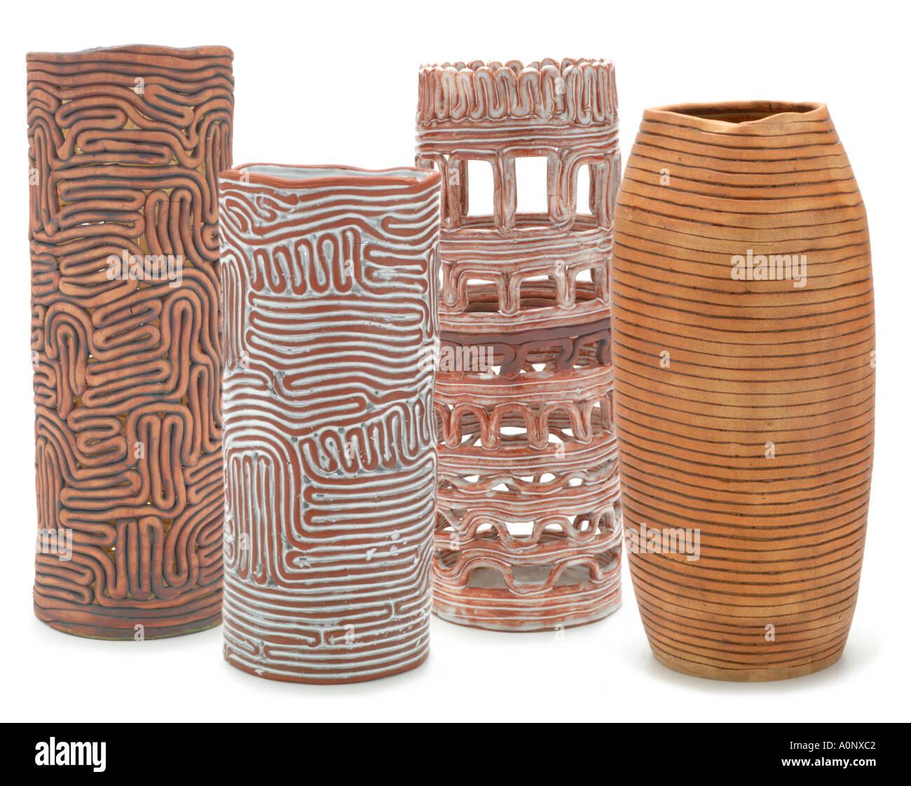 Ceramic hand made studio fine coil art clay bowl pot pottery UK ...