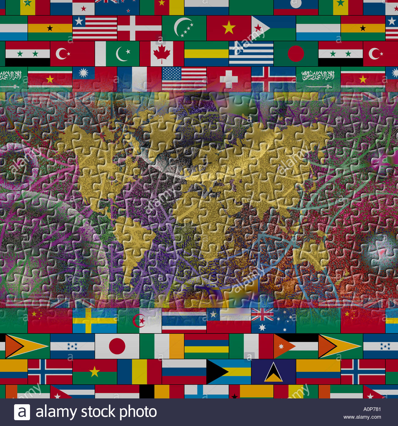 Jig saw puzzle patterned world map with flags above and below jig saw puzzle patterned world map with flags above and below gumiabroncs Choice Image