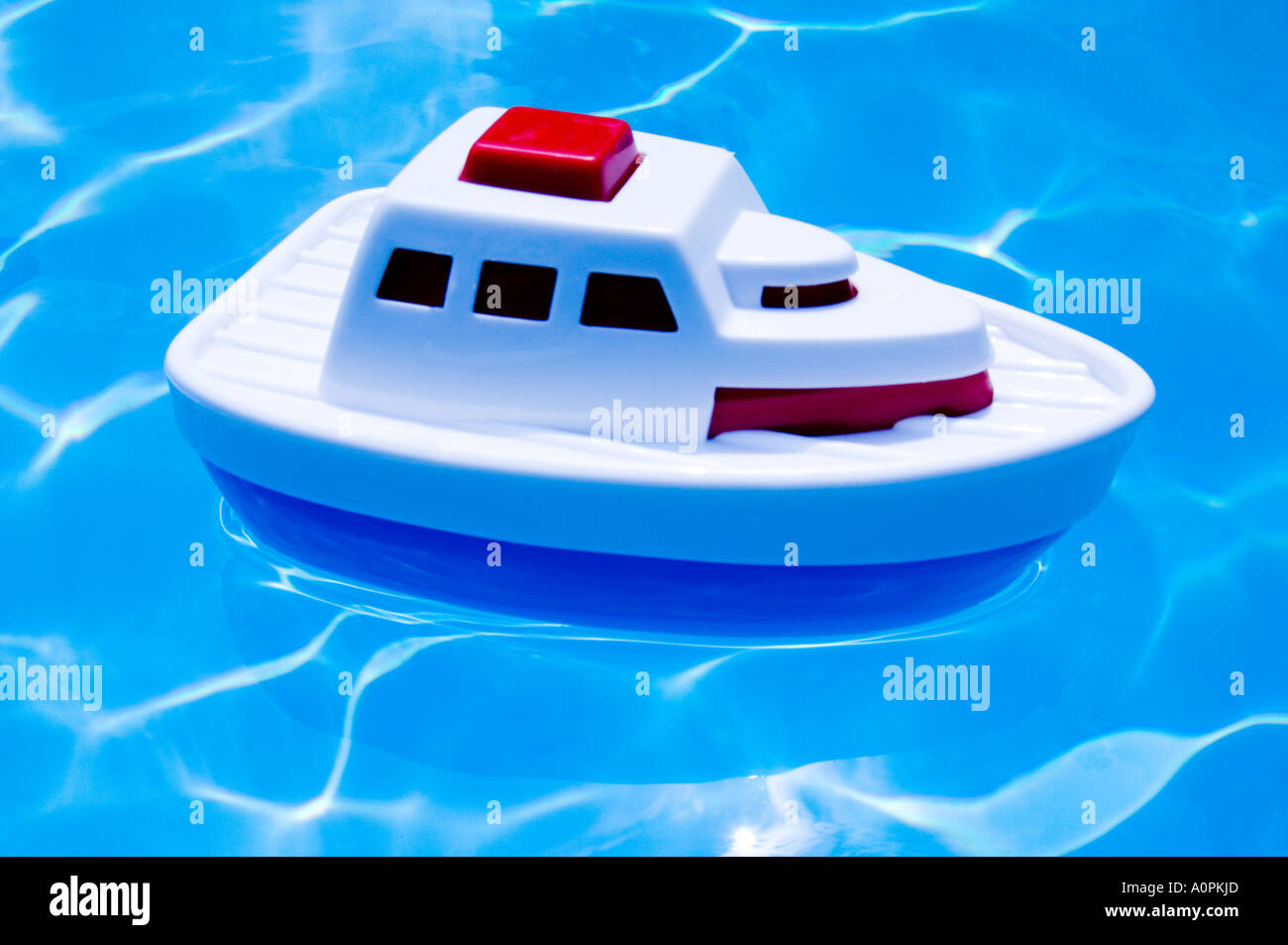 Toy Cruise Ship Floating In Swimming Pool Stock Photo Royalty - Toy cruise ship