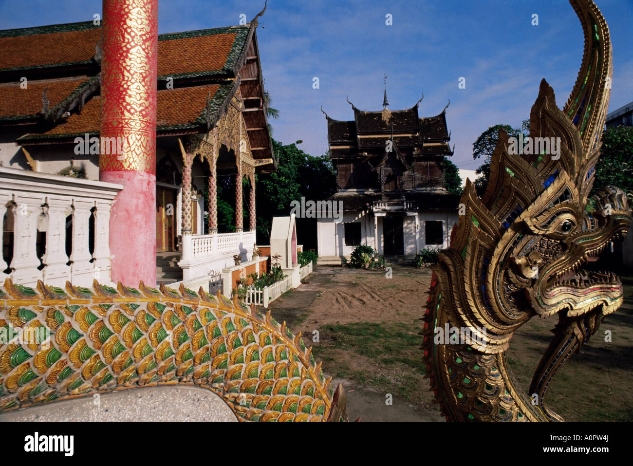 Temple Architecture Chiang Mai Thailand Southeast Asia
