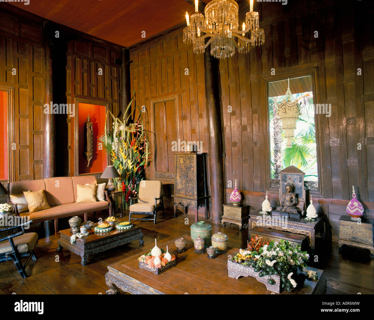 The Living Room Jim Thompson S House Bangkok Thailand Southeast Asia Asia