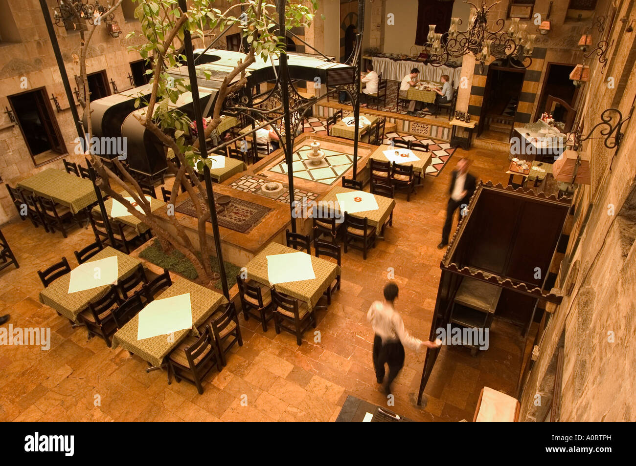 dining room beit al wakil hotel aleppo haleb syria middle east