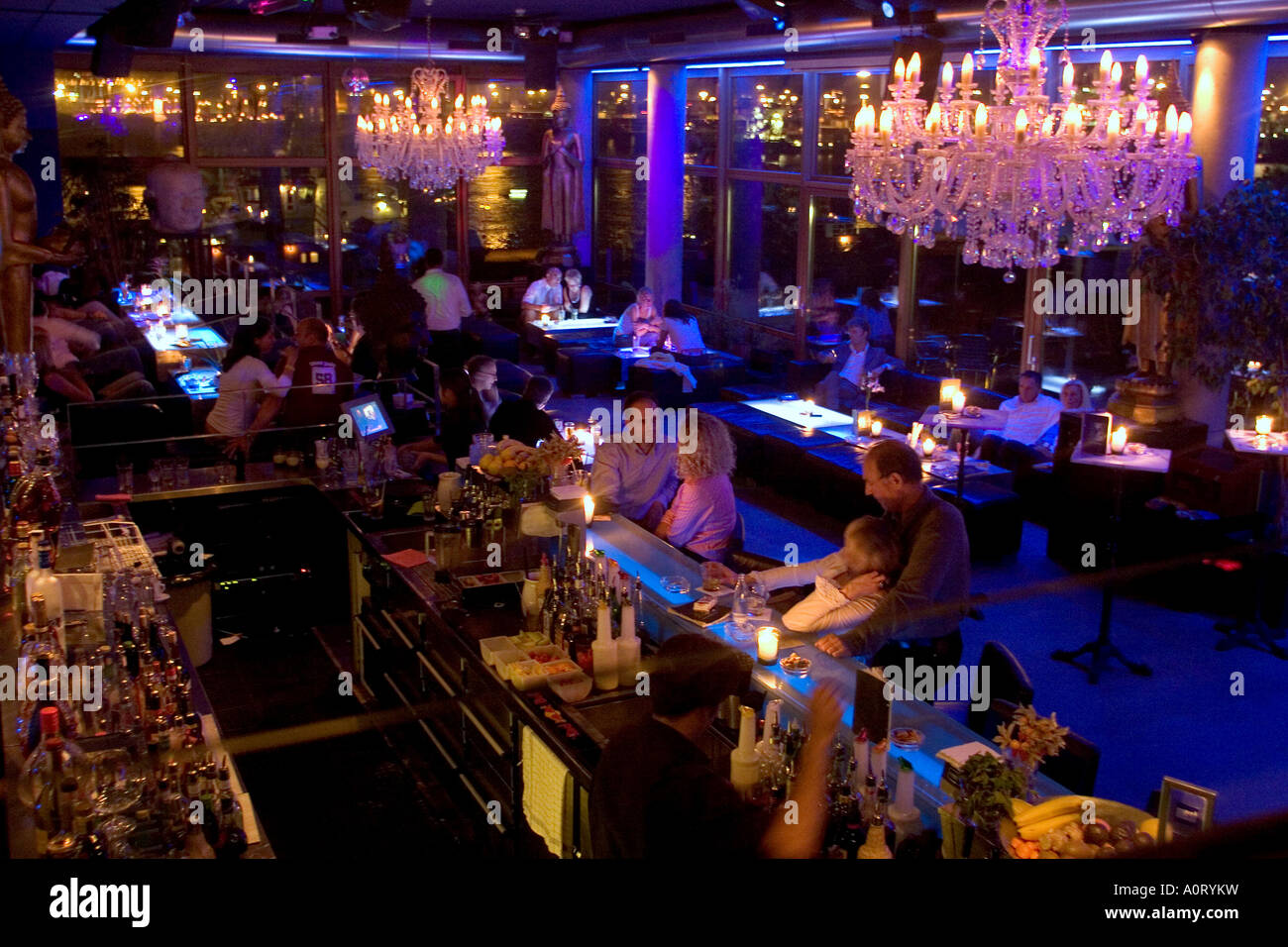 indochine restaurant and bar on neuemuehlen 11 altona hamburg germany stock photo royalty free. Black Bedroom Furniture Sets. Home Design Ideas
