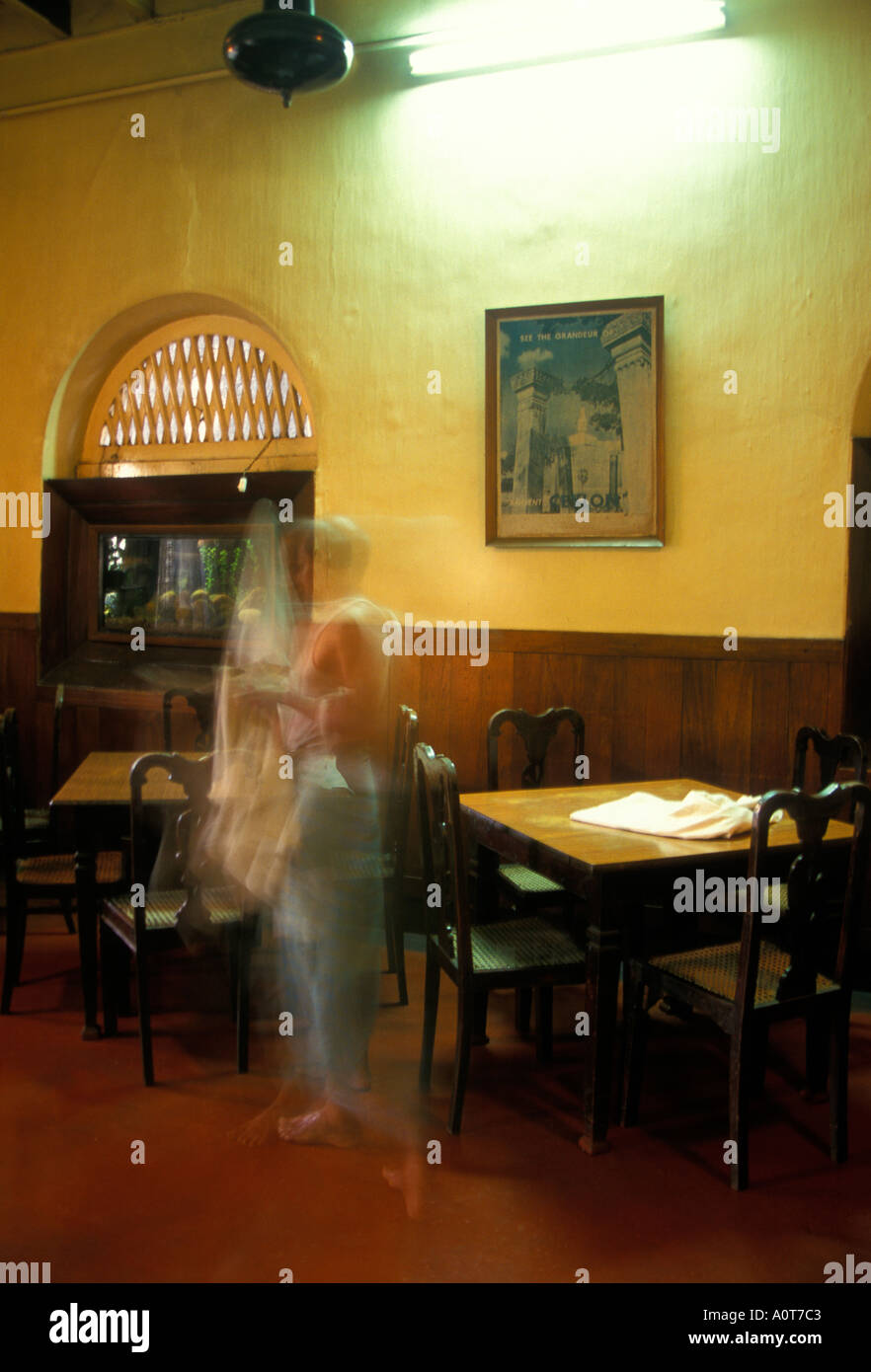 Old Colonial Hotel Dining Room In The Empire Kandy Sri Lanka