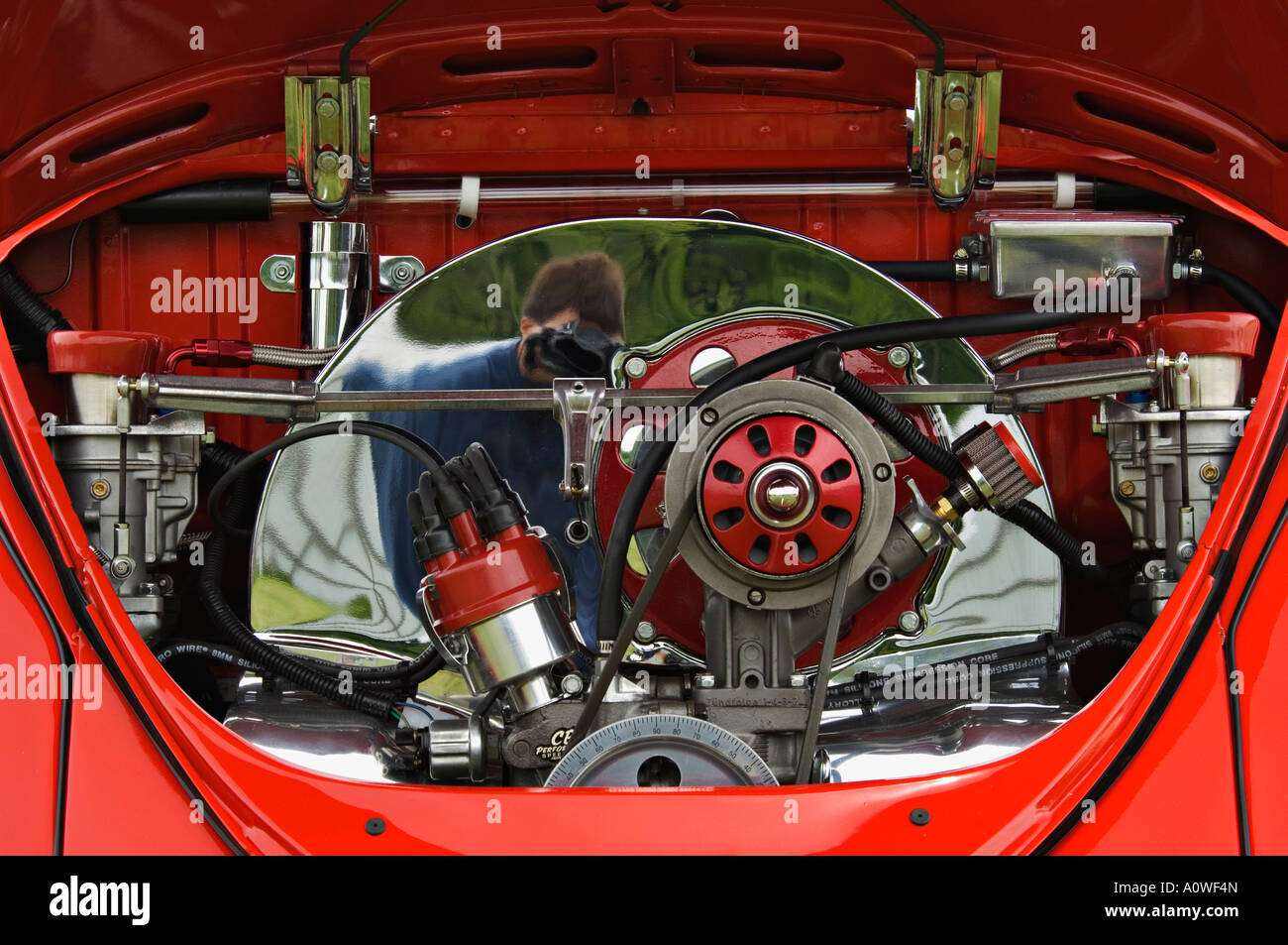 Custom Volkswagen Beetle Engine Stock Photo Royalty Free